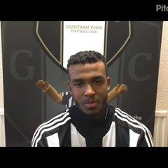 24-3-2018 - Grantham Town v Barwell - post match interview with Zayn Hakeem